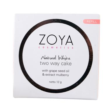 Zoya Cosmetics Natural White Two Way Cake Powder - Translucent [Refill]