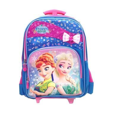 Bravery Disney Frozen Fever Troley T Tas Sekolah Anak - Biru Pink