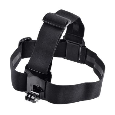 harga FS - Cameacs Elastic Adjustable Head Strap With Anti-Slide Glue for GoPro and Xiaomi Yi Black Blibli.com