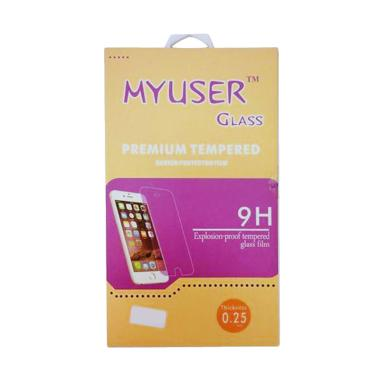 MyUser Tempered Glass Screen Protector for Coolpad Roar Plus - Clear
