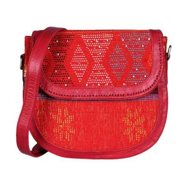 Daisy Amarissa Style Lovina Genuine Leather Sling Bag - Tomato Red