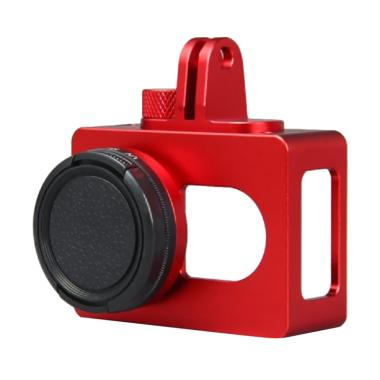 Xiaomi Aluminium Casing with CNC Sc ... r for Yi Action Cam - Red