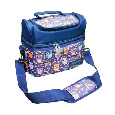 Natural MomsOwl Purple Tas Penyimpan ASI with Ice Gel Cooler Bag
