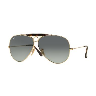 harga Ray-Ban Shooter RB3138 Sunglasses - Gold [181-71/Size 62/Light Grey Gradient Dark Grey] Blibli.com