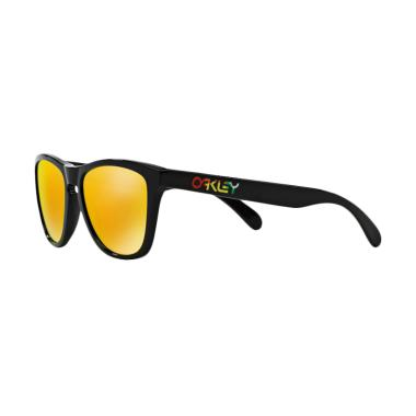 Oakley Sunglasses Frogskins Oo9013  ... lished Black Vr/46 24-325