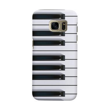 Indocustomcase piano Casing for Samsung Galaxy S6 Edge