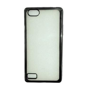 sale retailer 33752 7b4cc Case Jelly Transparan Shiny Chrome List Softcase Casing for Oppo Neo 7 A33  - Hitam