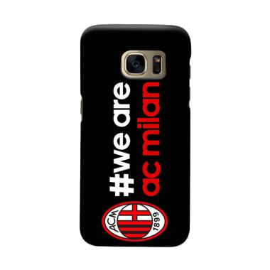 Indocustomcase AC Milan ACM02 Cover Casing for Samsung Galaxy S7 Edge