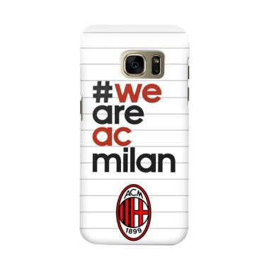 Indocustomcase AC Milan ACM03 Cover Casing for Samsung Galaxy S6 Edge