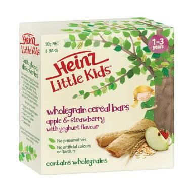 Heinz Little Kids Apple & Strawberr ... rt Wholegrain Cereal Bars