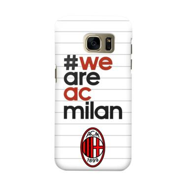 Indocustomcase AC Milan ACM03 Cover Casing for Samsung Galaxy S7 Edge