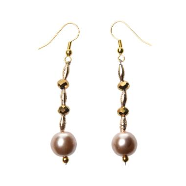 Signorino Stephanie Gold Pearl Drop Earrings 25148 Anting - Gold