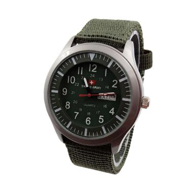Jam Tangan Swiss Army Unisex D43H70SA7826MHJA Daydate - Green Army