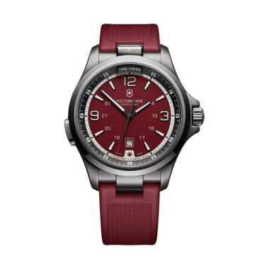 Victorinox Swiss Army Night Vision Rubber Jam Tangan Pria 241717- Red
