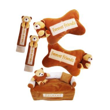 HL Fiesta 3in1 Boneka Bear Forever Friends Aksesoris Interior Mobil - Coklat
