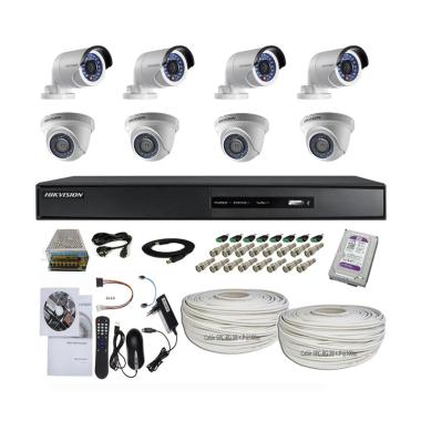 Hikvision 8 Camera Turbo HD Paket K ... tdoor/2.0 MP/Cable 200 m]