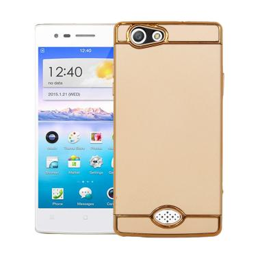 OEM 3 in 1 Plated PC Frame Bumper w ...  Oppo A31 or Neo 5 - Gold