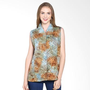 Batik Pria Tampan Wbltl-04081602c W ... ing Atasan Wanita - Brown
