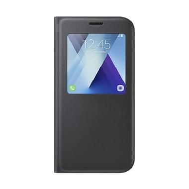Samsung Original S View Cover Stand ... laxy A7 2017 A720 - Hitam