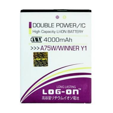 Log On Battery for Evercoss A75W or ... 00 mAh/Double Power & IC]