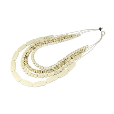 Vona Beads Kalani Kalung Wanita Manik-manik/ Jewellery Necklace For Women - Putih