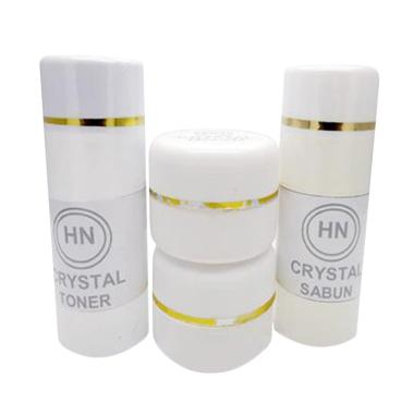 [PROMO] Cream HN Crystal Original Paket Krim Siang Malam Sabun Toner Pencerah Wajah [15 g]
