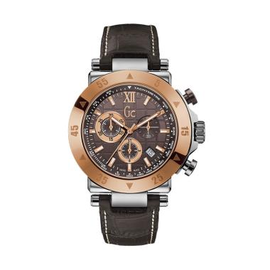 GUESS COLLECTION Leather Jam Tangan ... 0020G4S - Coklat Rosegold