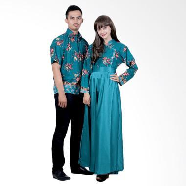 Batik Putri Ayu Solo SRG110 Sarimbit Gamis Modern Batik Couple - Hijau