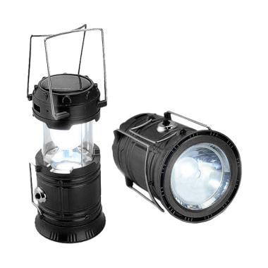 Lampu Camping Emergency Solar Plus Senter 5800 - Biru