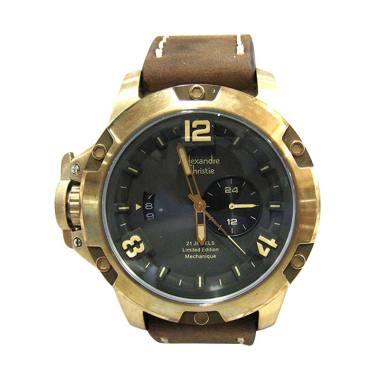 Alexandre Christie AC 6339 Automati ...  Tangan Pria - Brown gold