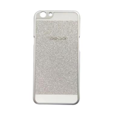 Case Glitter Hardcase Softcase Metalic Casing for Oppo F1s Selfie Expert A59 - Silver