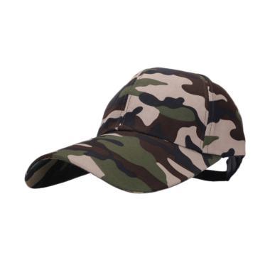 Ormano Baseball Snapback Cap Korean ... r Loreng Cap - Hijau Navy