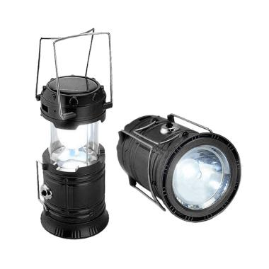 Lampu Camping Emergency Solar Plus Senter 5800 - Hitam