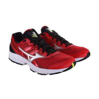 Mizuno K1GA160303 Sepatu Running -  ... ese Red Silver Lime Punch