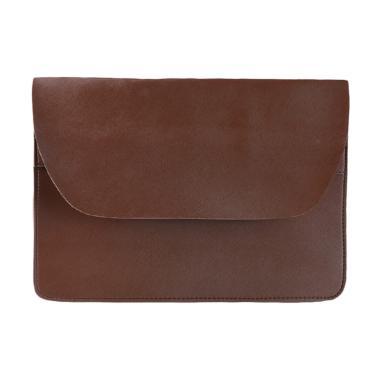Louvre Paris BL-004-06 Classic Oversize Clutch Bag - Dark Brown