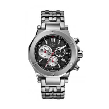 Guess Collection Gc Stainless Jam Tangan Pria X72013G5S - Silver Hitam