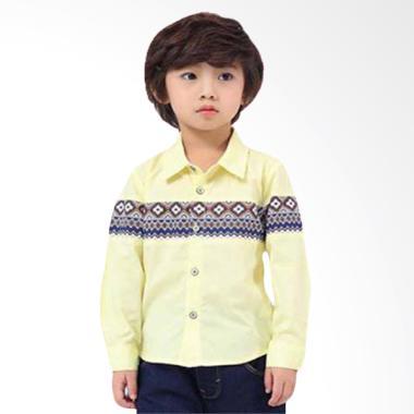 Cutevina Boy Fashion Shirt Motif Ba ... anjang - Yellow [BC17010]