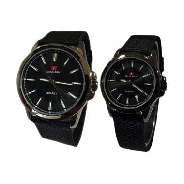 Swiss Army SA5092 Jam Tangan Couple - Hitam