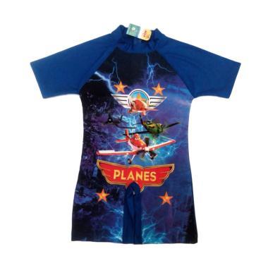 Alya Collection TK Planes Baju Renang Anak Pria - Biru