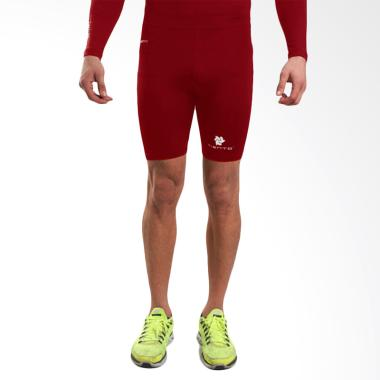 Tiento Original Baselayer Tight Leg ... hort Pants - Maroon White