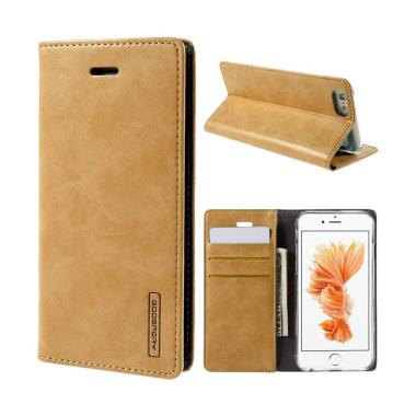 Mercury Goospery Bluemoon Flip Cover Casing for Xiaomi Redmi Note 3 - Gold