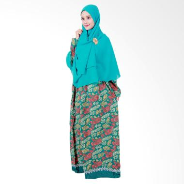 Batik Putri Ayu Solo Gamis Syari GH3 Dress Muslim - Hijau Tua