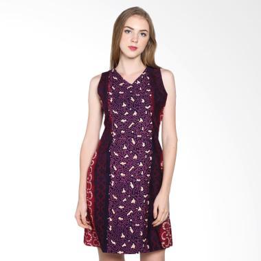 Batik Pria Tampan Wdrtl-04081622k A ... leeveless Dress - Fuchsia