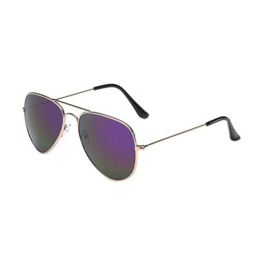 Fashion Eyewear Kacamata Fashion Su ... ey Aviator Pilot - Purple