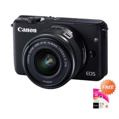 Canon EOS M10 Kit 15-45mm IS STM Ka ... P] + Free Memory Sony 8GB