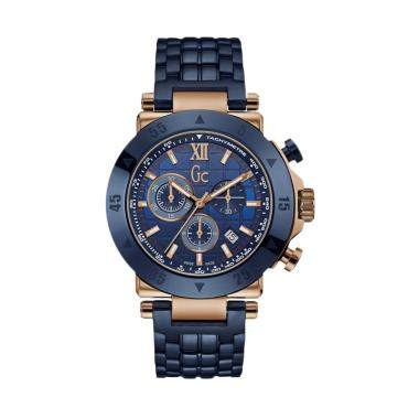 GUESS COLLECTION Gc Jam Tangan Pria ... - Biru Rosegold X90012G7S