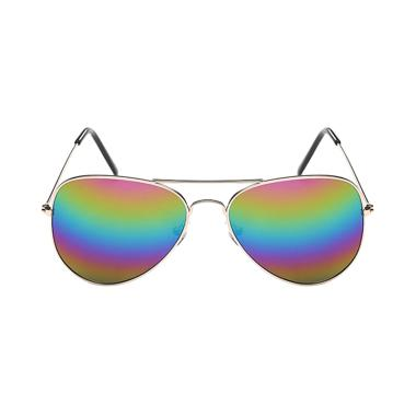 Fashion Eyewear Kacamata Fashion Su ... y Aviator Pilot - Rainbow