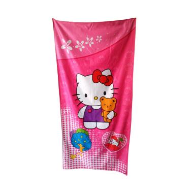 Jejo Karakter Hello Kitty Jumbo Handuk Mandi [70 x 140 cm]