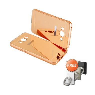 Case88 Bumper Mirror Casing for Sam ... se Gold + Free Stand Ring