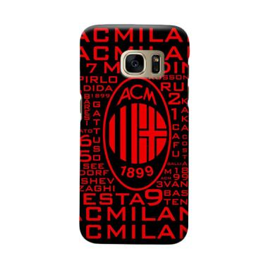Indocustomcase AC Milan ACM09 Cover Casing for Samsung Galaxy S7 Edge